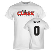 White T Shirt-Primary Logo, Custom Tee w/ Name and #