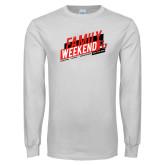 White Long Sleeve T Shirt-CU Family Weekend