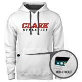 Contemporary Sofspun White Hoodie-Clark Athletics