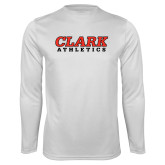Performance White Longsleeve Shirt-Clark Athletics
