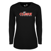 Ladies Syntrel Performance Black Longsleeve Shirt-Secondary Logo