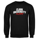 Black Fleece Crew-Clark University Alumni Stacked