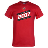 Red T Shirt-Class Of - Slanted Banners, Personalized Year