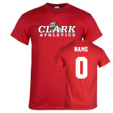 Red T Shirt-Primary Logo, Custom Tee w/ Name and #