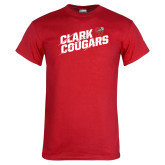 Red T Shirt-Slashed Clark Cougars