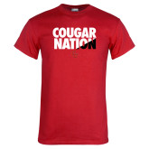 Red T Shirt-Cougar Nation