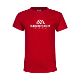 Youth Red T Shirt-Clark Cougars Volleyball