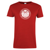 Ladies Red T Shirt-Institutional Seal