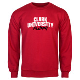 Red Fleece Crew-Clark University Alumni Stacked