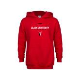 Youth Red Fleece Hoodie-Clark Cougars Lacrosse