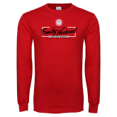 Red Long Sleeve T Shirt-Family Weekend