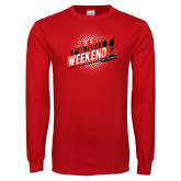 Red Long Sleeve T Shirt-CU Family Weekend