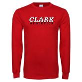 Red Long Sleeve T Shirt-Clark Athletics