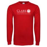 Red Long Sleeve T Shirt-Institutional Logo Flat