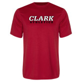 Performance Red Tee-Clark Athletics