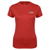 Ladies Syntrel Performance Red Tee-Primary Logo