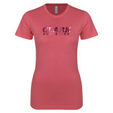 Next Level Ladies SoftStyle Junior Fitted Pink Tee-Clark Athletics Foil