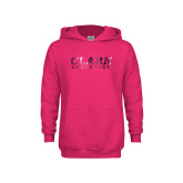 Youth Raspberry Fleece Hoodie-Clark Athletics Foil