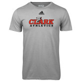 Adidas Climalite Sport Grey Ultimate Performance Tee-Primary Logo