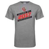 Grey T Shirt-Class Of - Slanted Banners, Personalized Year