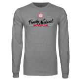 Grey Long Sleeve T Shirt-Family Weekend