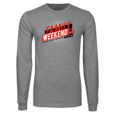 Grey Long Sleeve T Shirt-CU Family Weekend