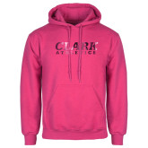 Fuchsia Fleece Hoodie-Clark Athletics Foil