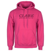 Fuchsia Fleece Hoodie-Clark Athletics Hot Pink Glitter