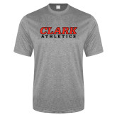 Performance Grey Heather Contender Tee-Clark Athletics