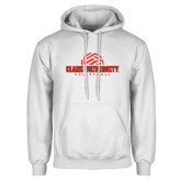 White Fleece Hoodie-Clark Cougars Volleyball