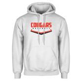 White Fleece Hoodie-Cougars Baseball Plate