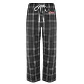 Black/Grey Flannel Pajama Pant-Secondary Logo