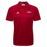 Adidas Climalite Red Jacquard Select Polo-Primary Logo