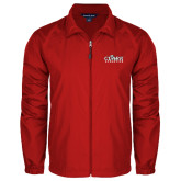 Full Zip Red Wind Jacket-Primary Logo