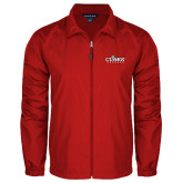 Full Zip Red Wind Jacket-Secondary Logo