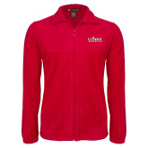 Fleece Full Zip Red Jacket-Primary Logo