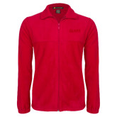 Fleece Full Zip Red Jacket-Clark Athletics