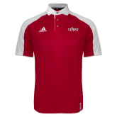 Adidas Modern Red Varsity Polo-Secondary Logo