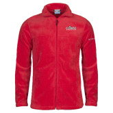 Columbia Full Zip Red Fleece Jacket-Primary Logo