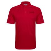 Red Textured Saddle Shoulder Polo-Clark Athletics