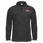 Columbia Full Zip Charcoal Fleece Jacket-Primary Logo