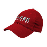 Red Twill Unstructured Low Profile Hat-Clark Athletics