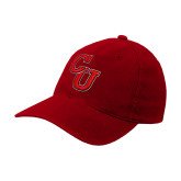 Red Twill Unstructured Low Profile Hat-Interlocking CU