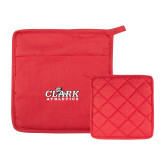 Quilted Canvas Red Pot Holder-Primary Logo