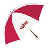 62 Inch Red/White Vented Umbrella-Primary Logo