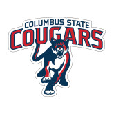 Medium Decal-Columbus State Cougars w/ Cougar Arched