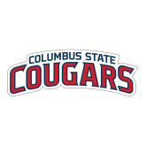 Large Decal-Arched Columbus State Cougars