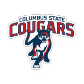 Small Decal-Columbus State Cougars w/ Cougar Arched