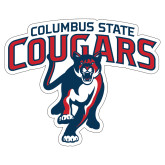 Extra Large Decal-Columbus State Cougars w/ Cougar Arched