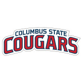 Extra Large Decal-Arched Columbus State Cougars